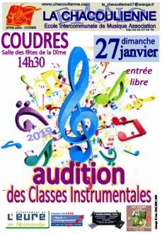 affiche audition des classes janvier 2019
