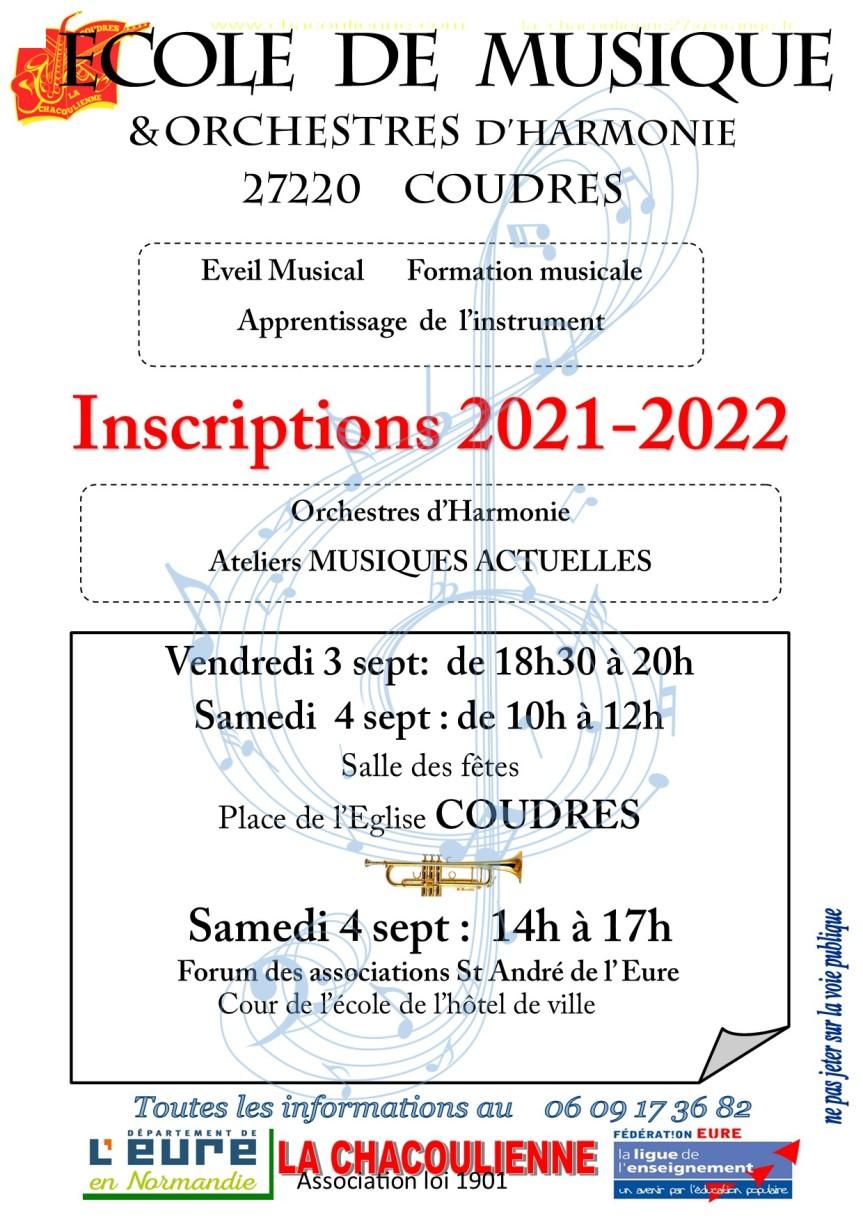 Inscriptions et réinscriptions 2021-2022 (03 et04-09-2021)